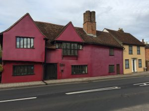 This timber-framed house in Cross Street is 16th century but the timbers are hidden underneath 18th century plaster