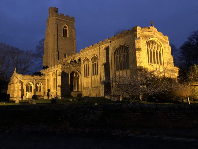 The Sudbury Freemen's Trust funded the provision of floodlighting at St Gregory's Church, Sudbury, in 1989.